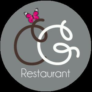 logo comptoir des gourmands restaurant blanc