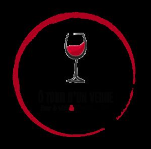 logo detouré transparent verre et texte noir